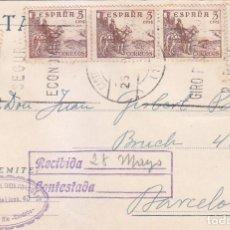 Sellos: TARJETA COMERCIAL (ANTONIO GARCIA DE DIOS CORDOBES) CIRCULADA 1959 CASTRO DEL RIO-BARCELONA. MPM.. Lote 86082936
