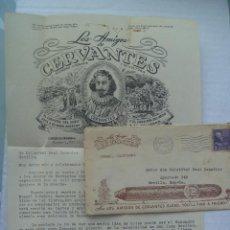 Sellos: SOBRE DE LOS AMIGOS DE CERVANTES Y CARTA, OJO AL SOBRE !. CARMEL , CALIFORNIA. USA . 1940. Lote 87100652