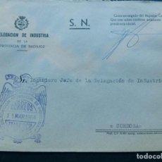 Sellos: FRANQUICIA / DELEGACION PROVINCIAL DE INDUSTRIA - BADAJOZ 1964. Lote 89678908