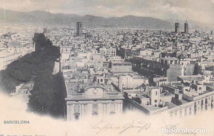 Sellos: 1899 ALFONSO XIII PELON MUY RARA TARJETA POSTAL VISTA BARCELONA CIRCULADA 1899 A ALEMANIA. LLEGADA. - Foto 2 - 95114751