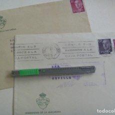 Sellos: SEMANA SANTA DE SEVILLA : LOTE DE 2 SOBRES CIRCULADOS DE LA HERMANDAD DE LA MACARENA. Lote 95604519