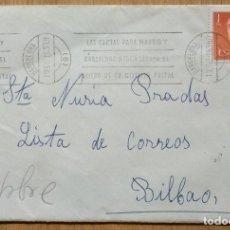 Sellos: SOBRE CIRCULADO CON SELLO DE ADQUISICION VOLUNTARIA. Lote 96060231