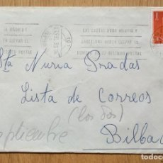 Sellos: SOBRE CIRCULADO CON SELLO DE ADQUISICION VOLUNTARIA. Lote 96060639