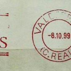 Sellos: ESPAÑA (FRANQUEO MECANICO) VINO LOS MOLINOS - VALDEPEÑAS (C. REAL) - MAQUINA: 21117 (FRAGMENTO). Lote 98498619