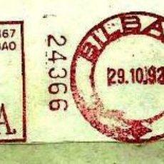 Sellos: ESPAÑA (FRANQUEO MECANICO) ZUBIRIDIRECT SA - BILBAO - MAQUINA: 24336 (FRAGMENTO). Lote 98499183