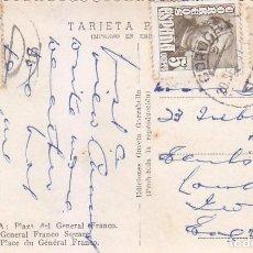 Sellos: EL CID Y GENERAL FRANCO EN TARJETA POSTAL PLAZA SEVILLA CIRCULADA 1951 DE CORDOBA A INGLATERRA.. Lote 99135607
