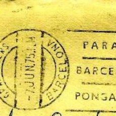 Sellos: ESPAÑA MATASELLOS (ESTAFETA) GRANOLLERS (BARCELONA) 1975 RODILLO (SOBRE). Lote 99551359