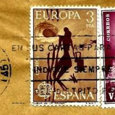 Sellos: ESPAÑA MATASELLOS (ESTAFETA) VALENCIA 1975 (RODILLO) (SOBRE). Lote 99554403