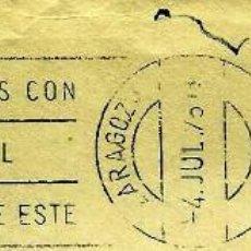 Sellos: ESPAÑA MATASELLOS (ESTAFETA) ZARAGOZA 1975 (RODILLO) (SOBRE). Lote 99554703
