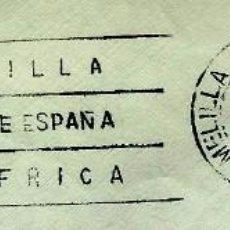Sellos: ESPAÑA MATASELLOS (ESTAFETA) MELILLA 1972 (RODILLO) (SOBRE). Lote 194608583