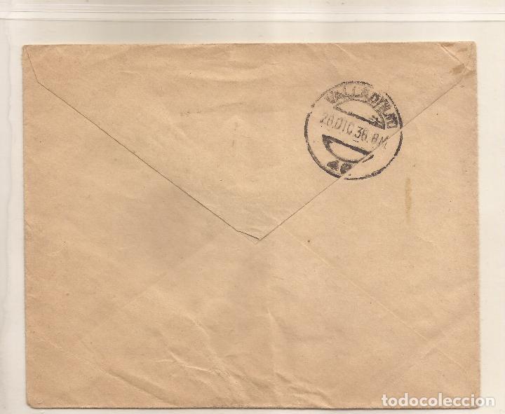 Sellos: Sobre circulado de Benavente a Valladolid franqueo 10c marrón movil especial y 20c Lila - Foto 2 - 101664027