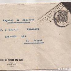 Sellos: SOBRE CIRCULADO DE PALENCIA A EL FERROL. 10C TELEGRAFOS + ED. 857(º) HELLER F6.5A. Lote 101667051