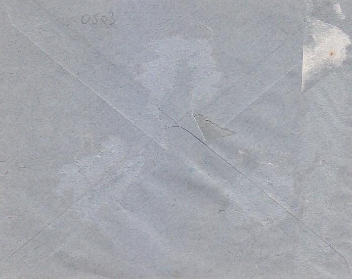 Sellos: CARTA CIRCULADA 1937 SEVILLA INTERIOR. FRANQUEO E.L.P. SEVILLA Y OTRO INUTILIZADOS MANUALMENTE. - Foto 2 - 26182715