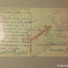 Sellos: TARJETA POSTAL - AÑO 1939 . CON CENSURA MILITAR CON MARCAREGIMIENTO DE INFANTERIA SAN QUINTIN Nº 25. Lote 103833167