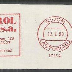 Sellos: GIJON ASTURIAS FRANQUEO MECANICO OBREROL SA. Lote 106938007
