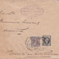 Sellos: SOBRE 1898 + RECIBO 1898 + LOTERIA 1882. Lote 108018495