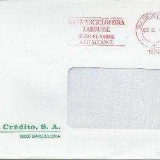 Sellos: 1988. CIRCULADO DESDE BARCELONA. FRANQUEO MECÁNICO/RED METER. GRAN ENCICLOPEDIA LAROUSSE. BOOKS.. Lote 108277771