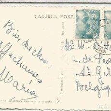 Sellos: BALEARES TARJETA POSTAL CON MAT CAMBIO PALMA MALLORCA SELLOS FRANCO DE PERFIL. Lote 109261783