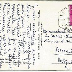 Sellos: PALMA MALLORCA TARJETA POSTAL CON MAT HEXAGONAL CORREO AEWREO AIR MAIL POSTMARK. Lote 109262099