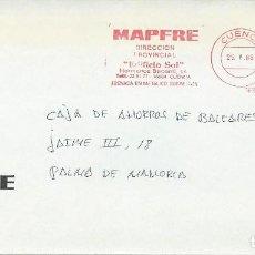 Francobolli: 1988. CUENCA. FRANQUEO MECÁNICO/METER -MAPFRE-DIRECCIÓN PROVINCIAL-. SEGUROS/INSURANCES.. Lote 112033059