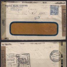 Sellos: SOBRE DE BARCELONA CON EDIFIL 976 Y CENSURAS DICIEMBRE 1944. Lote 112120875