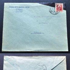 Sellos: REQUENA A NOVELDA, HACIA AZAFRANES DE JOSÉ VERDÚ CANTÓ, 21 DE MARZO DE 1933. Lote 112121103