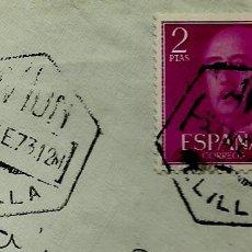 Sellos: ESPAÑA MATASELLOS (ESTAFETA) MELILLA-AVION 1973 (EXAGONAL) (SOBRE). Lote 194608773