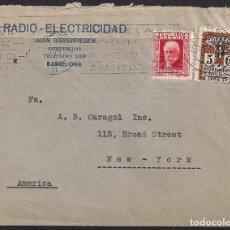 Sellos: RODILLO PUBLICITARIO FERIA DE BARCELONA, MARZO 1934, A NEW YORK. Lote 113701815