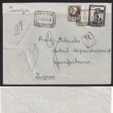 Sellos: CERTIFICADO SAN SEBASTIAN A SUIZA -1 DE OCTUBRE 1932. Lote 113706259