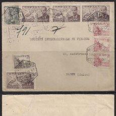 Sellos: CERTIFICADO BARCELONA A BADEN (SUIZA) AÑO 1944 - CENSURA. Lote 113709047
