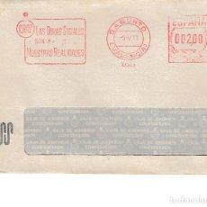 Sellos: 1977. FRANQUEO MECANICO CAJA AHORROS Y SOCORROS SAGUNTO. SOBRE CIRCULADO 2 PESETAS. Lote 115729523
