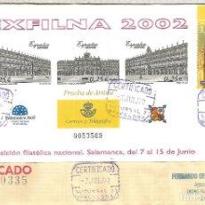Selos: SALAMANCA EXFILNA 2002 PLAZA MAYOR ARQUITECTURA PRUEBA DE LUJO IMPERFORATE PROOF . Lote 116937211