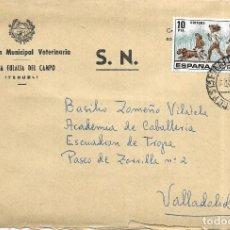 Sellos: == S08 - SOBRE CIRCULADO - INSPECCIÓN MUNICIPAL VETERINARIA - SANTA EULALIA DEL CAMPO. Lote 117338311