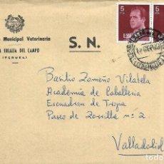 Sellos: == S10 - SOBRE CIRCULADO - INSPECCIÓN MUNICIPAL VETERINARIA - SANTA EULALIA DEL CAMPO. Lote 117338491