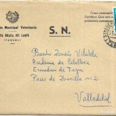 Sellos: == S13 - SOBRE CIRCULADO - INSPECCIÓN MUNICIPAL VETERINARIA - SANTA EULALIA DEL CAMPO. Lote 117338679