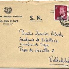 Sellos: == S16 - SOBRE CIRCULADO - INSPECCIÓN MUNICIPAL VETERINARIA - SANTA EULALIA DEL CAMPO. Lote 117348211