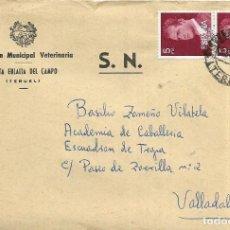 Sellos: == S17 - SOBRE CIRCULADO - INSPECCIÓN MUNICIPAL VETERINARIA - SANTA EULALIA DEL CAMPO. Lote 117348259