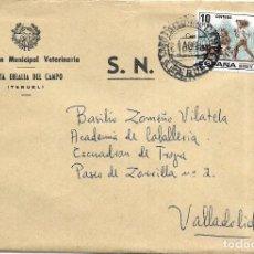 Sellos: == S18 - SOBRE CIRCULADO - INSPECCIÓN MUNICIPAL VETERINARIA - SANTA EULALIA DEL CAMPO. Lote 117350303
