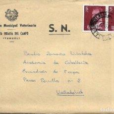 Sellos: == S19 - SOBRE CIRCULADO - INSPECCIÓN MUNICIPAL VETERINARIA - SANTA EULALIA DEL CAMPO. Lote 117351763