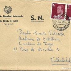 Sellos: == S21 - SOBRE CIRCULADO - INSPECCIÓN MUNICIPAL VETERINARIA - SANTA EULALIA DEL CAMPO. Lote 117353247