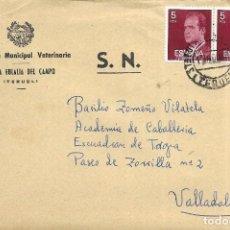 Sellos: == S22 - SOBRE CIRCULADO - INSPECCIÓN MUNICIPAL VETERINARIA - SANTA EULALIA DEL CAMPO. Lote 117353279