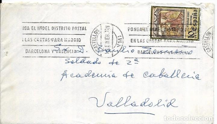 == S28 - SOBRE CIRCULADO - MATASELLOS CASTELLON (Sellos - Historia Postal - Sello Español - Sobres Circulados)