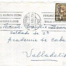 Sellos: == S28 - SOBRE CIRCULADO - MATASELLOS CASTELLON . Lote 117968651