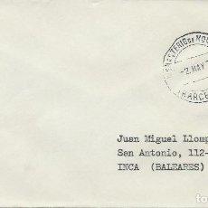 Sellos: 1979. SOBRE CIRCULADO DE MONASTERIO DE MONTSERRAT A INCA (MALLORCA). MATASELLOS ORDINARIO. RELIGION.. Lote 118547043