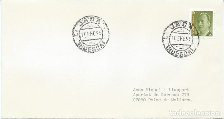 1995. SOBRE CIRCULADO DE JACA (HUESCA) A PALMA DE MALLORCA. MATASELLOS ORDINARIO. (Sellos - Historia Postal - Sello Español - Sobres Circulados)