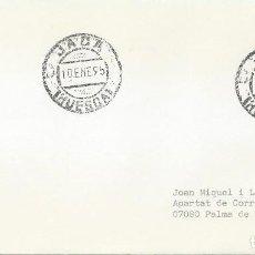 Sellos: 1995. SOBRE CIRCULADO DE JACA (HUESCA) A PALMA DE MALLORCA. MATASELLOS ORDINARIO.. Lote 118547367