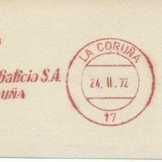 Sellos: 1972. CORUÑA. FRANQUEO MECÁNICO. FRAGMENTO. METER CUT. ALUMINIO DE GALICIA. MÁQUINA 2403.. Lote 124037171