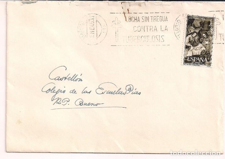 Carta Circulada Con Sello De Navidad 1964 Desde Comprar Sobres - Pias-navidad