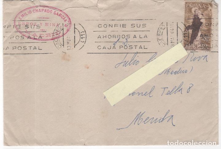 LOTE DE 2 SOBRES CIRCULADOS DE MADRID A MÉRIDA. (Sellos - Historia Postal - Sello Español - Sobres Circulados)