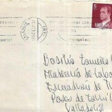 Sellos: == S77 - SOBRE CIRCULADO - DIRIGIDO A LA ACADEMIA DE CABALLERIA - VALLADOLID. Lote 125610423